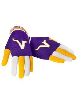 NFL Minnesota Vikings Multi Color Knit Gloves