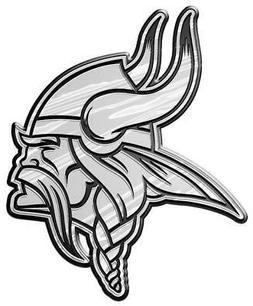 NFL Minnesota Vikings Plastic Chrome Emblem Decal Size Aprx.
