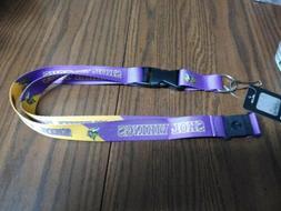 NFL Minnesota Vikings Slogan Lanyard Fan Keychain, Purple