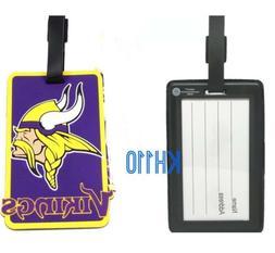 NFL Minnesota Vikings Soft Luggage Bag Tags /Gym bag / Golf