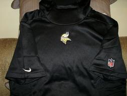 NFL Minnesota Vikings NIKE Therma-Fit Black Pullover Hoodie