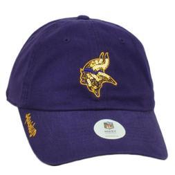 NFL Minnesota Vikings Womens Purple Slouch Relaxed Ladies Ha