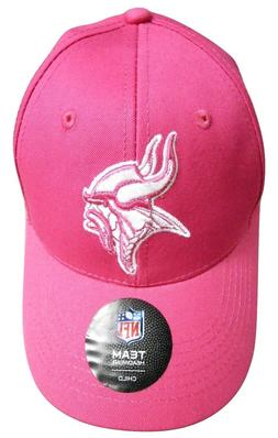 NFL Team Apparel Minnesota Vikings Girls Kids Pink Hat Cap