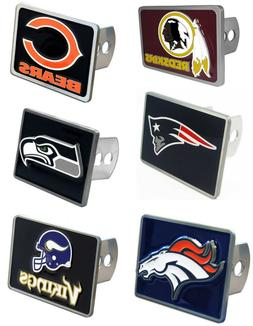 """NFL Team Trailer Hitch Receiver Cover for 2"""" Trailer Hitches"""