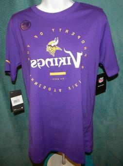 NWT Nike Dri-Fit MINNESOTA VIKINGS Purple SS Tee / T-Shirt W