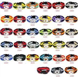 football nfl us team umbrella rope wristband