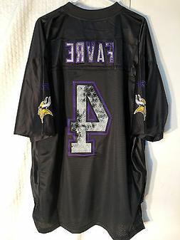 Reebok Premier NFL Jersey Minnesota Vikings Brett Favre Blac
