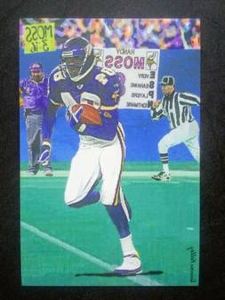 Randy Moss 4x6 Art Card Custom Minnesota Vikings Hall Of Fam