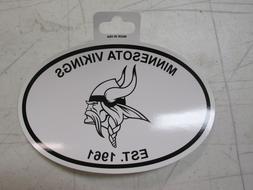 RICO Minnesota Vikings Black and White Oval Sticker Decal 4