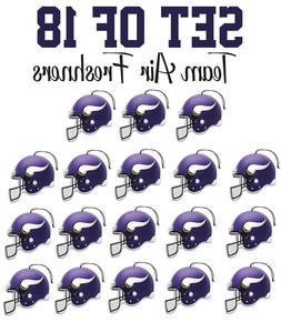 set of 18 minnesota vikings team helmet
