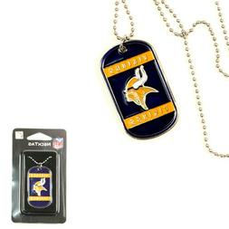 TWO  MINNESOTA VIKINGS DOGTAG/NECKTAG NECKLACES FROM SISKIYO