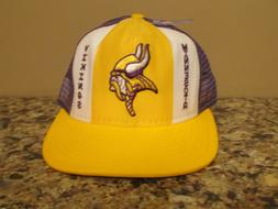 Vintage AJD Lucky Stripes Minnesota Vikings Snapback Basebal