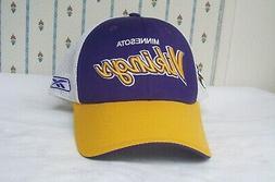 Vintage Reebok MINNESOTA VIKINGS Baseball Cap Hat NFL Equipm
