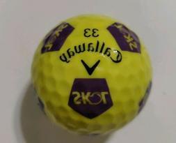 "Yellow Minnesota Vikings NFL Callaway Truvis Chrome Soft """